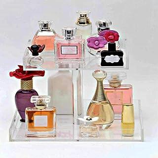 Perfume Organizer Display Tray Acrylic Handmade Large Vanity Trays Makeup Storage Holder Bathroom Organizer Countertop for...