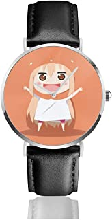 GASDFEFSD Unisex Men's Woman Business Classic Himouto! Umaru-Chan Anime Watches Quartz Leather Watch with Black Leather Band Gift