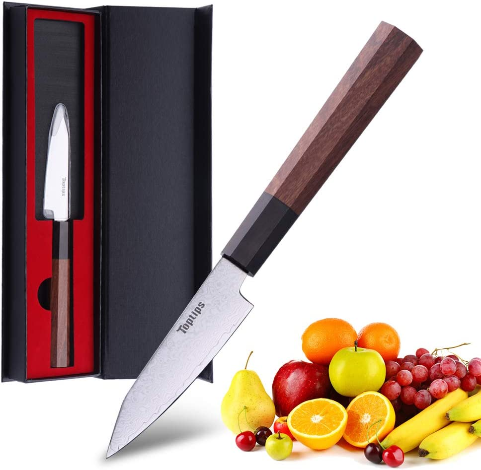 Paring Knife 3.5 inch- Kitchen Knives San Diego Mall 10CR15M 67 HC Selling rankings Damascus - L