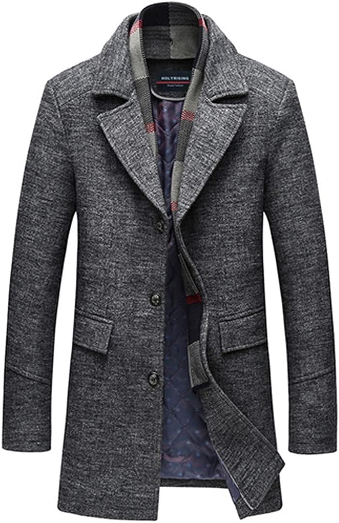 Men Thick Woolen Coat Men Coat Wool Thick Windbreaker Woolen Overcoat Casaco Masculino Palto Jaket