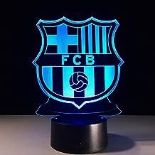 Barcelona 3D LED Tischlampe Leselampe Nachtlicht Nachttischlampe 7 Farbe