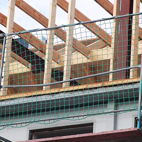 Seitenschutznetz 10,00 x 1,50 m, PP grün, Mw. 100 mm, DIN-EN 1263-1