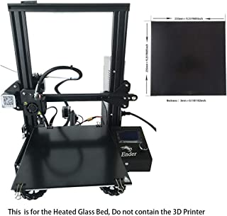 CCTREE Upgraded 3D Printer Ultrabase Platform Heated Bed Build Surface Tempered Glass Plate for Creality Ender 3/Ender 3 Pro Ender 5 GEEETECH A10 3D Printer 235x235x4mm
