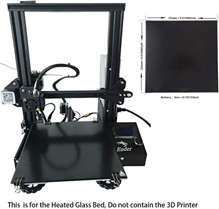 CCTREE 3D Printer Build Surface Tempered Glass Plate for 3D Printer 220x220x4mm
