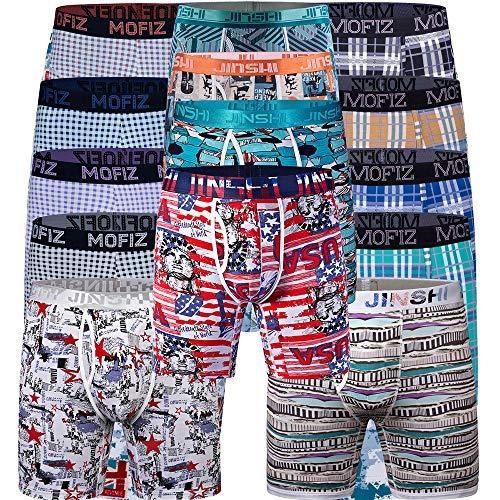 JINSHI Herren 6er Pack Boxershorts Unterhose Räumungsverkauf Ausverkauf Zufällige Farbe Größe XL
