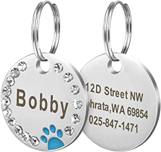 Didog Stainless Rhinestones Double Side Engraving
