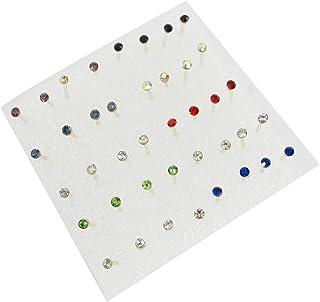 SODIAL(R) 20 accoppiamenti del colorato Faux strass Decor Plastica viti prigioniere Orecchini