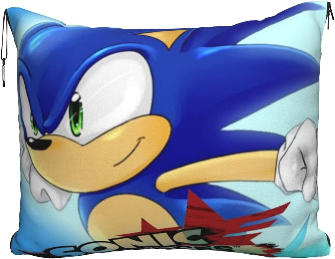 S-onic The Hedgehog Premium 40% OFF Cheap Sale Soft Blanket Pillow New product Airplane Travel