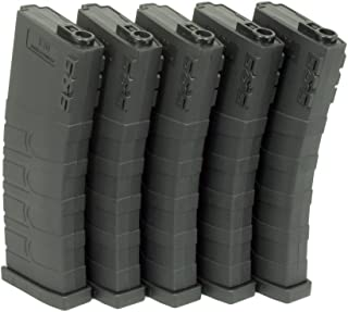 G&G GR16 120-ROUND MID-CAP 6mm Airsoft AEG MAGAZINE (Black, 5pk)