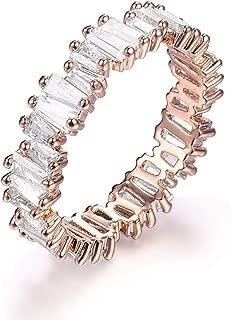 Fashion AAA Cubic Zirconia Baguette Ring,Shinning,Eternity Ring Band for Women