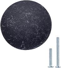 AmazonBasics - Ladeknop, meubelgreep, plat, rond, diameter: 3,47 cm, antiek zilver, 25 stuks
