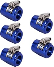Zerone Hose Finisher, 5X Hose Pipe Clamps End Finishers Oil Water Diesel Gas Line Tube Clip AN6 with Screw Band for Auto Car Vehicle(Blue)