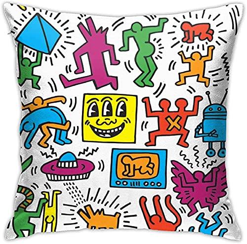 962 Keith Haring - Federa per cuscino con stampa su entrambi i lati, per decorare la vita
