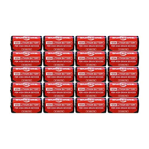 SureFire SF12-BB 123A CR123 3-Volt Lithium Batteries - 20 Pack