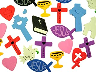 Religious Foam Sticker Assortment for Sunday School or Classroom, Container of 250