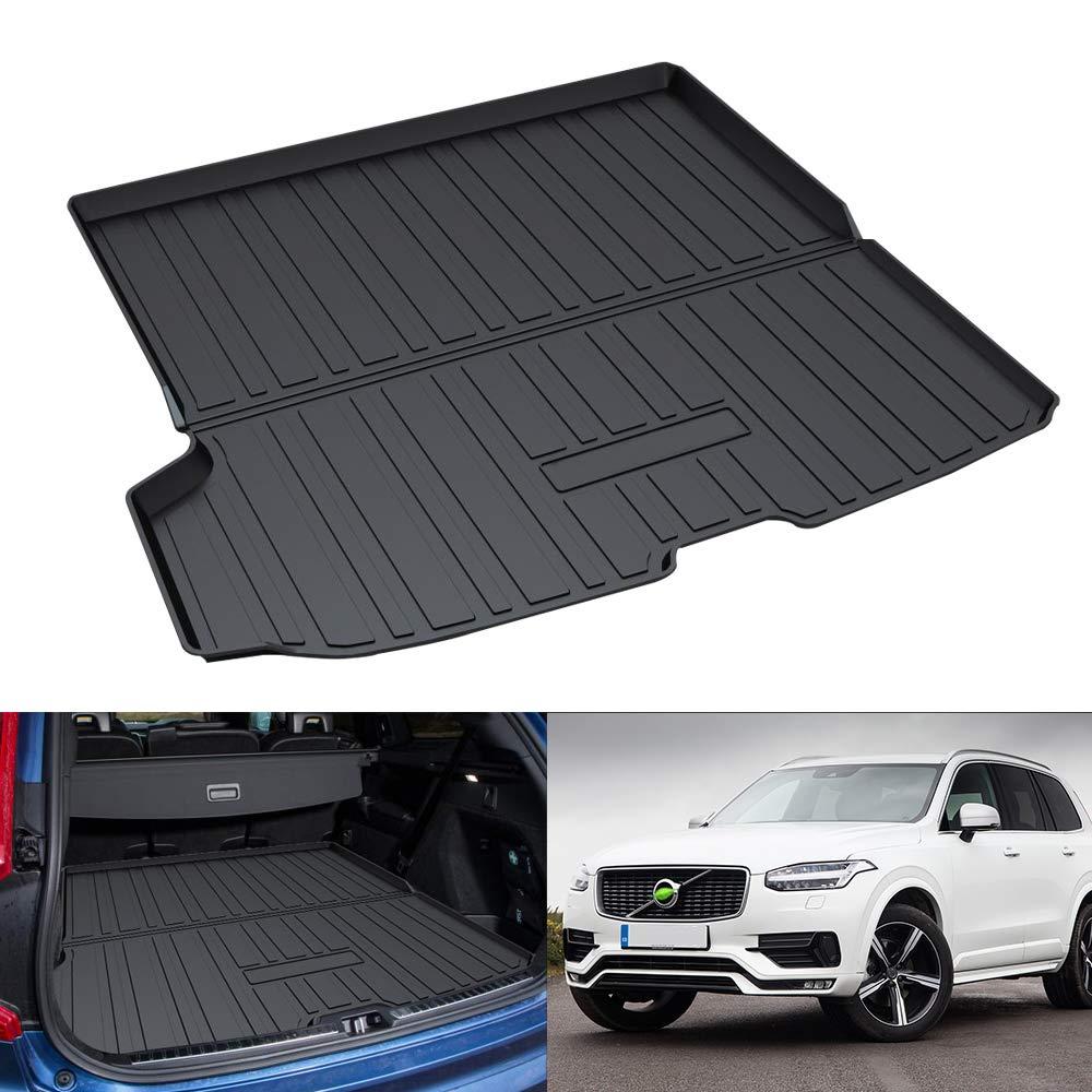 Coverking Custom Fit Rear Floor Mats for Select Volvo XC90 Models Black Nylon Carpet