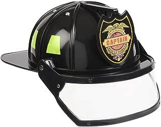 Aeromax Firefighter Helmet with Movable Visor, Black, Adjustable Size