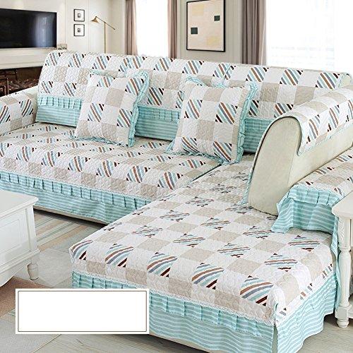 DW&HX Protecteur Meubles canapé pour Enfants Chien,Housse de canapé Solid Color épaissir Les Housses de canapé Jet Anti-dÉrapant Élégant -A 28x83inch(70x210cm)