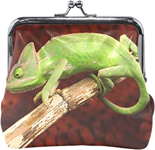 Women Wallet Purse Colorful Chameleon The Tree Clutch Bag Leather