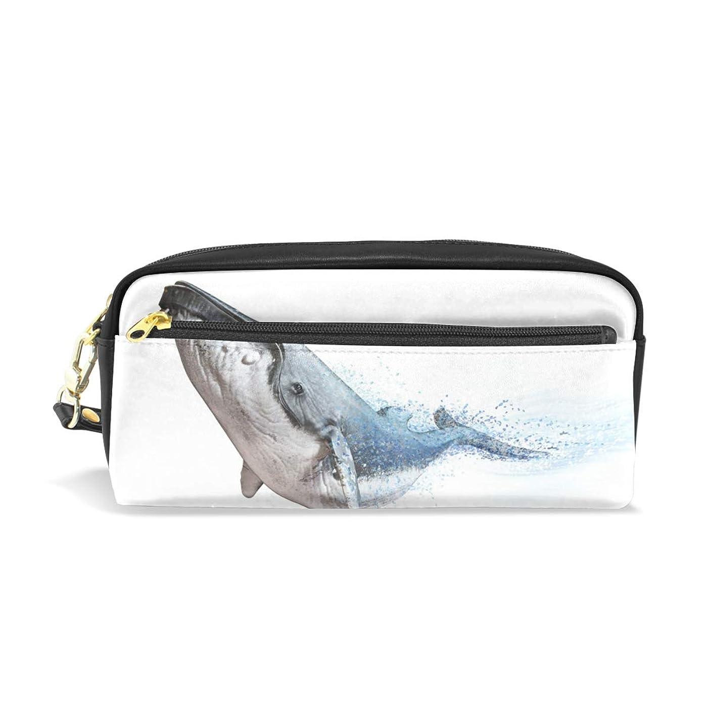 受け皿上回る研磨剤AOMOKI ペンケース 小物入り 多機能バッグ ペンポーチ 化粧ポーチ 男女兼用 ギフト プレゼント おしゃれ かわいい クジラ 魚 海