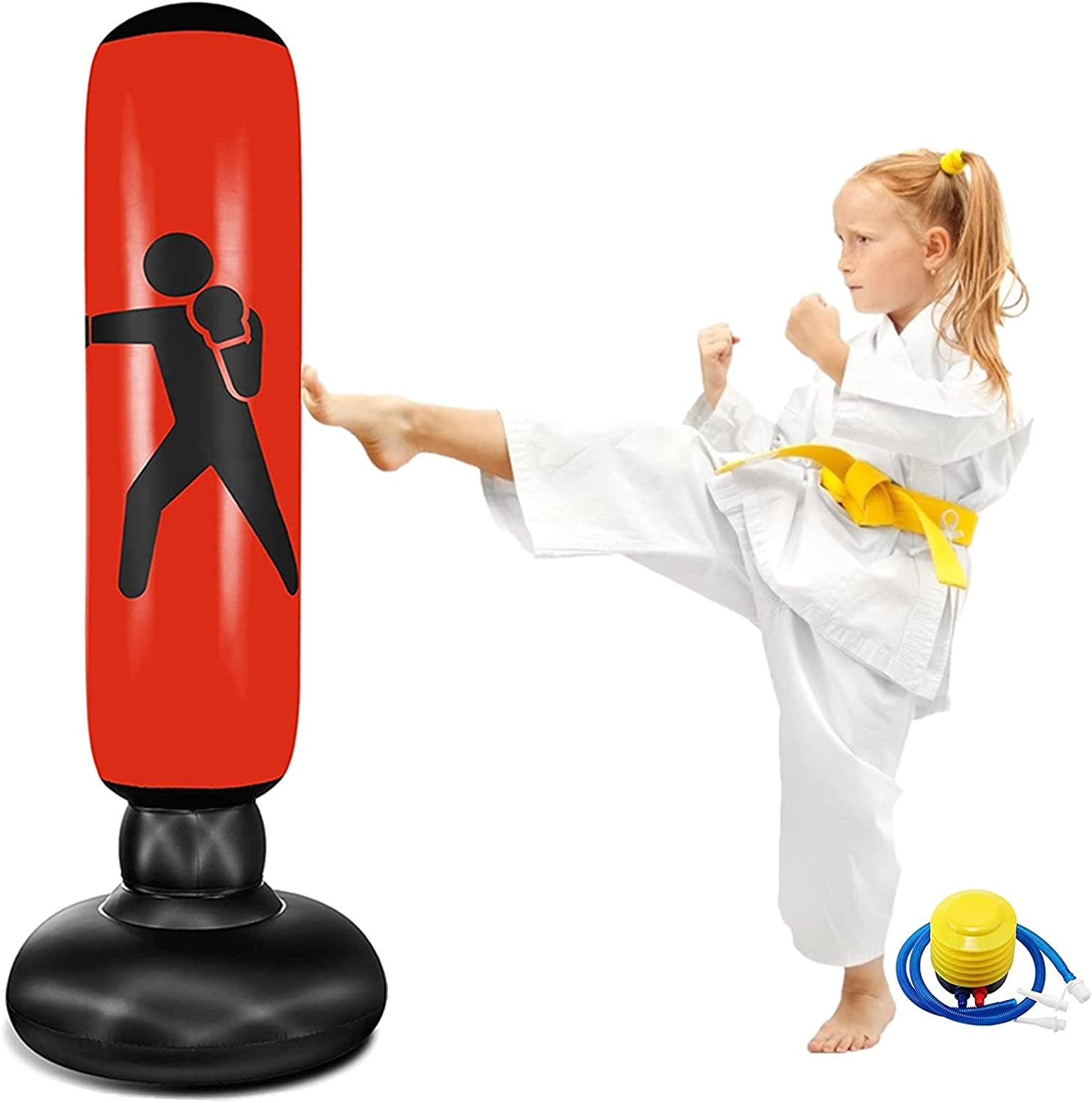 Inflatable Kids Punching Bag 62 Standing 即納最大半額 Free 最新アイテム fo Boxing Inch