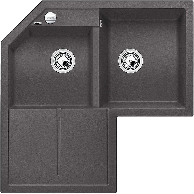 Weiß Metra 9E Felsgrau - 518 887 Granitspüle Küche Einbau Unterbau Spüle Grau Küchenspüle