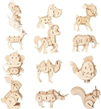3D Wooden animal Puzzle Model Kit Toys for Kids Puzzle Build 3D Puzzles Educational Crafts Building Engineering DIY STEAM STEM Learning