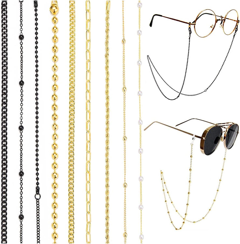 Glasses Chain Holder for Women Ne 9 Max 100% quality warranty! 54% OFF Pack Eyeglass Women's