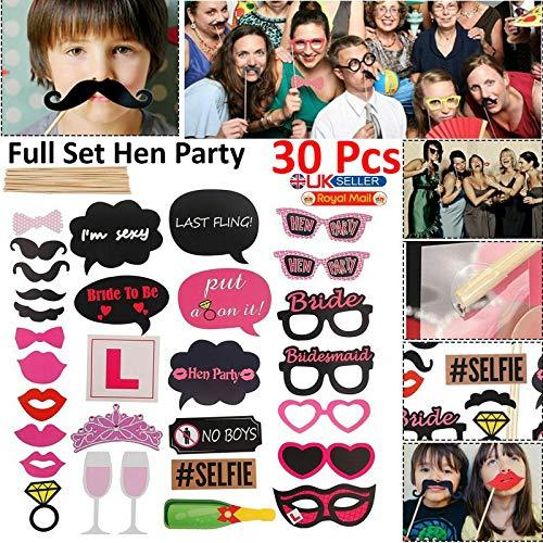 Walgreen® 30x Maskers Photo Booth Props Snor Op Een Stok Verjaardag Bruiloft Party DIY Set