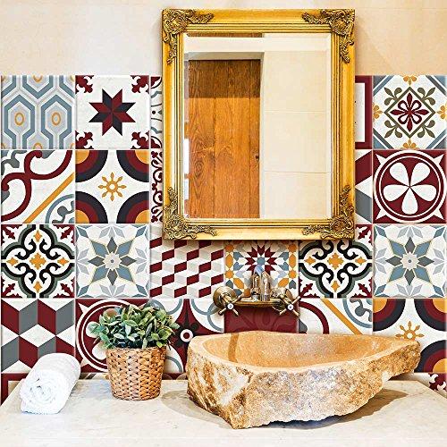 wall art PS00042 Adesivi in PVC per Piastrelle per Bagno e Cucina Stickers Design - Budapest