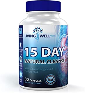 Living Well Now 15 Day Natural Colon Cleanse Detox Supplement to Improved Intestinal Health