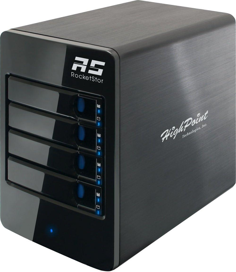 HighPoint RocketStor 6314A 4-Bay Thunderbolt 2 Hardware RAID Storage Enclosure