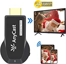 Anycast Wireless Display Dongle Streaming Media Player from Phone to Big Screen HDMI WiFi Adapter for TV Projector Compatible with iPhone Android Windows 8.1 10 Device
