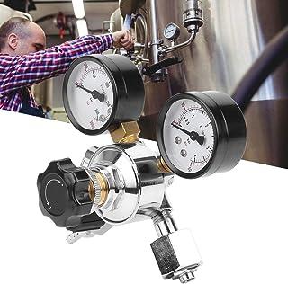 Hoge kwaliteit verchroomd messing + plastic CO2-regelaar, Home Brew Beer Equipment EU-stekker Praktische CO2-regulator Gau...