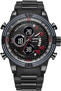 ساعة يد كوارتز مضادة للماء من GoolRC للرجال أنيقة من خليط معدني.