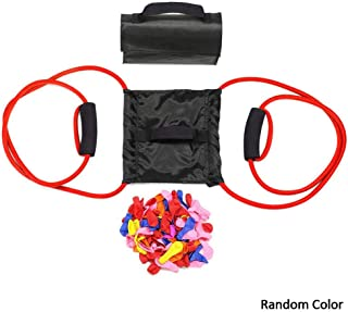 S WIDEN ELECTRIC Water Balloon Launcher with 111WaterBalloons | 3 Person Balloon Slingshot Trebuchet | Heavy Duty Water Polo Elastic Launch Single Launcher | Water Cannons Yard Toys