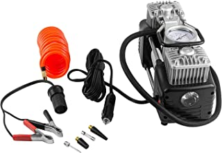 GNEY SUV/Sedan/Hatchback Elite Car Double Cylinder Air Compressor - Black & Silver with Tool Kit and Tyre Puncture Kit