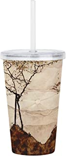 CafePress - Egon Schiele Autumn Sun And Trees - Insulated Straw Cup, 20oz Acrylic Double-Wall Tumbler