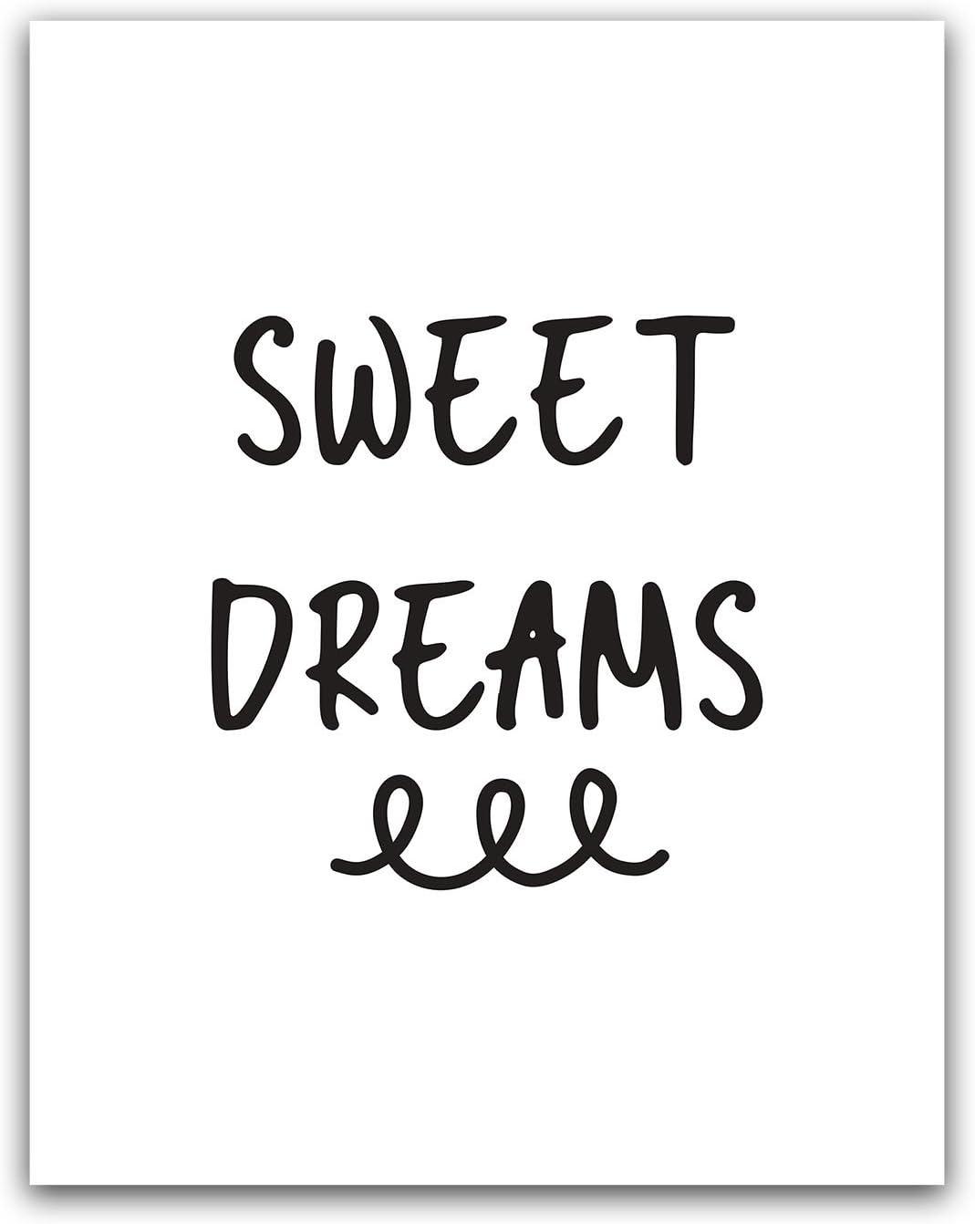 Wall Art Set Of 2 Prints Sweet Dreams Print Typography Print Bedroom Art Bedroom Prints Typography Wall Art Typography Download