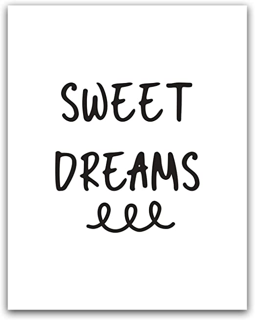 Good Night Quote Wall Art Print Poster x2 Inspirational Bedroom Home Decor Dream