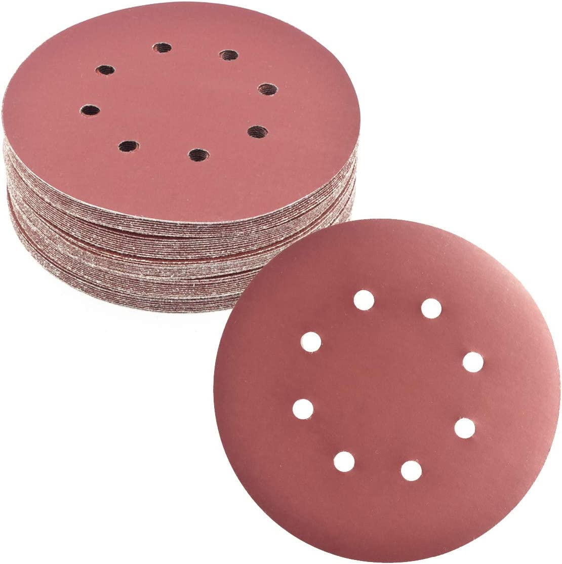 50Pcs 7 Inch 8 Hole Hook and Grit New product!! Loop Flockin Max 57% OFF 2000 Sanding Disc