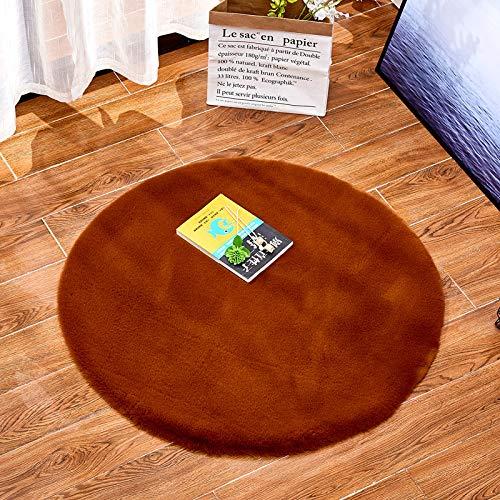 Xoshx tapijt, konijnenvacht, voor slaapkamer, nachtkastje, huis, verdikking, woonkamer, rond