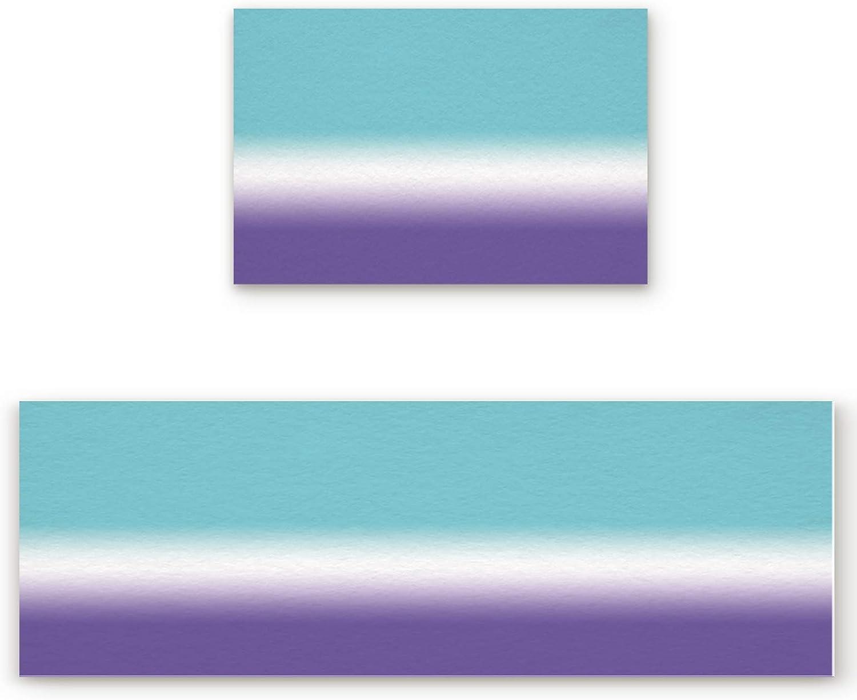 Brand Cheap Sale Venue ZOE GARDEN Kitchen Bath Rug Runner Purple online shop Elegant Summ Set Ombre