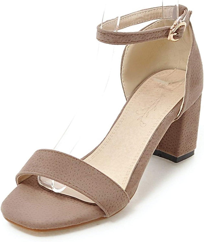 Ankle Strap Women shoes Sandals Fashion Square High Heels Platform Flock shoes