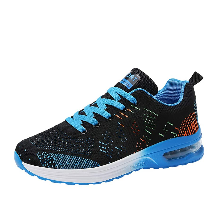 Couple Sport Shoes,Mosunx Athletic Men & Women Breathable Lightweight Sneakers Running Shoes Boys Girls Lace-Up Wild Casual Movement Shoes (41, Blue) ancoxg9053291