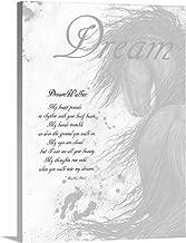DreamWalker Horse Poem Canvas Wall Art Print, 12