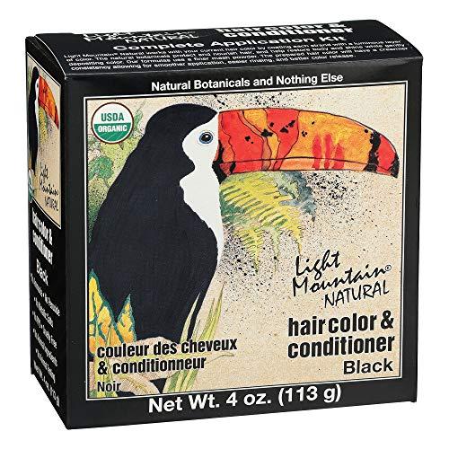 LIGHT MOUNTAIN Natural Hair Color 3 Piece - Black, 12 Ounce (187002)