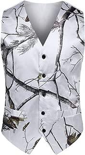 New V Neck Camo Mens Wedding Vests Outerwear Groom Vest Realtree Spring Camouflage Slim Fit Mens Vests
