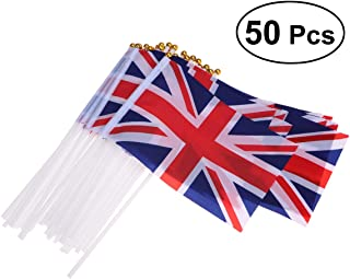 union jack hand flags pack of 50