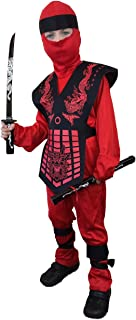 Deluxe, Kids, Red Dragon, Ninja Costume, Mortal Kombat